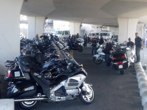 Taxi-moto Orly le parking en septembre 2015