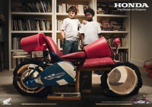 Pub Honda avec enfants